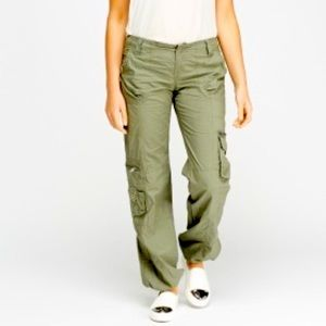 Army green cargo hiking pants